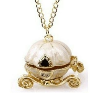 Jewelry - Pumpkin Carriage Trinket Box Necklace